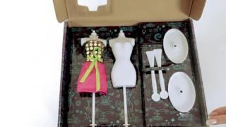 Творчество Досуг с Буки Студия дизайна BONDIBON(Любая девочка сможет почувствовать себя дизайнером почти настоящей одежды с этим замечательным набором...., 2015-12-16T12:10:15.000Z)
