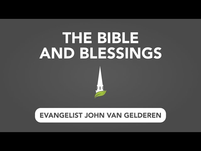 The Bible and Blessings