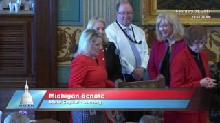 Sen. Schuitmaker speaks in support of Senate Resolution 9