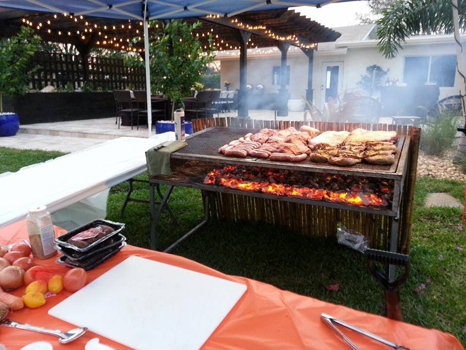 Argentinian Parrillada Grill Bbq Party Caterer Miami 786 355 1449 Service For 70 Guests