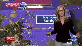 First Alert Action Day: Freezing drizzle and snow for the Denver Metro Area