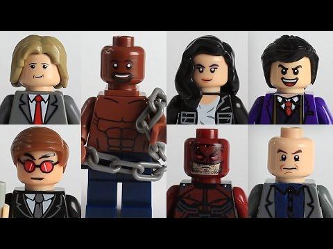 Custom Lego Marvel Daredevil and other Defenders Netflix Custom minifigures