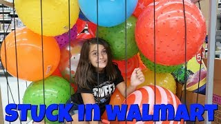 Our GRANDMA Finally Came! Shopping at 3AM STUCK In The Balls At WALMART!