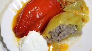Фаршированный перец с мясом и рисом / Stuffed peppers | Видео Рецепт(Видео рецепт «Фаршированный перец с мясом и рисом» от videoretsepty.ru ПОДПИСЫВАЙТЕСЬ НА КАНАЛ: http://www.youtube.com/channel/UCi..., 2015-08-21T16:22:04.000Z)