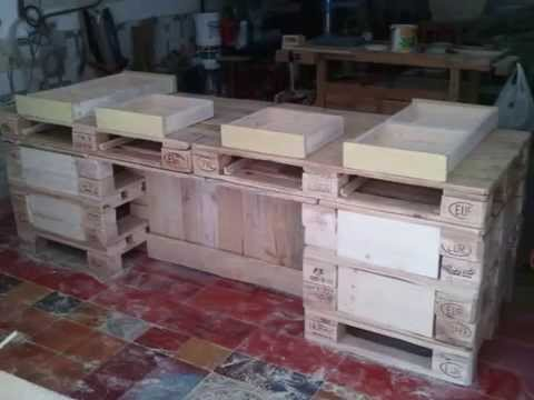 Bancone Pallets - YouTube