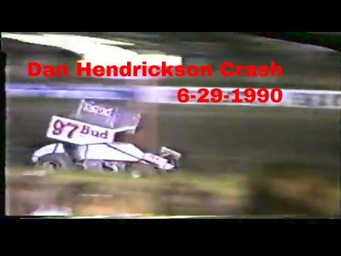6 29 90 Sprint Main Black Hills Speedway Dan Hendrickson Crash