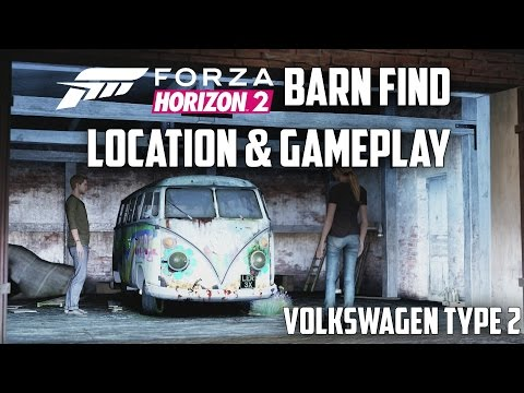 Forza Horizon 2 - Volkswagen Type 2 De Luxe - Location & Gameplay (Barn Find)
