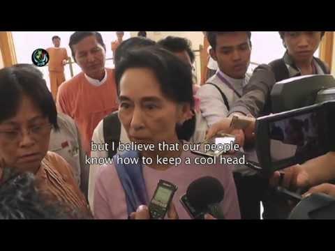 Suu Kyi calls for 'cool heads' in wake of bombings