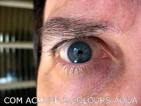 8c6f2a5bc3b38 Acuvue 2 Colour Enhancers Aqua - Lente de Contato - YouTube