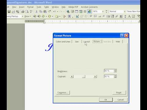 How To Create an Electronic Signature - Transparent Signature ...