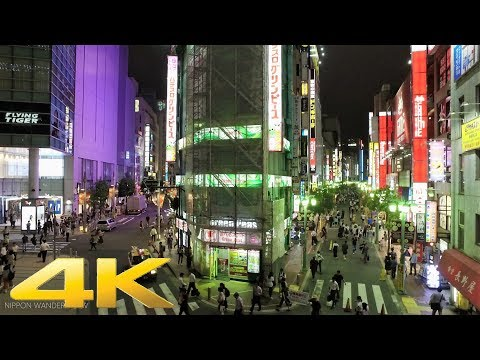 Summer night 2017 in Shinjuku east area, Tokyo - Long Take【東京・新宿東口】 4K