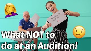 What NOT to do at an Audition | (with a visual guide for the lols) | Georgie Ashford