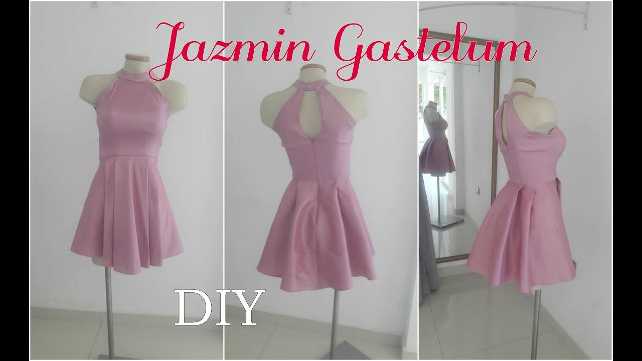 0c2729445a Como Hacer un Vestido Halter 2018 Jazmin Gastelum - YouTube