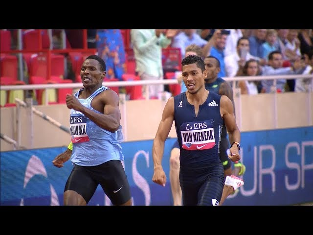 Van Niekerk vs Makwala 400m - Monaco Diamond League 2017 [1080p]