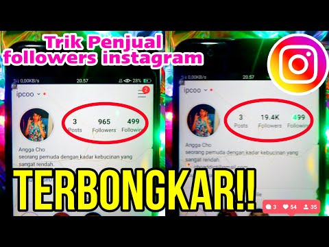 Cara Menambah FOLLOWERS INSTAGRAM 19K