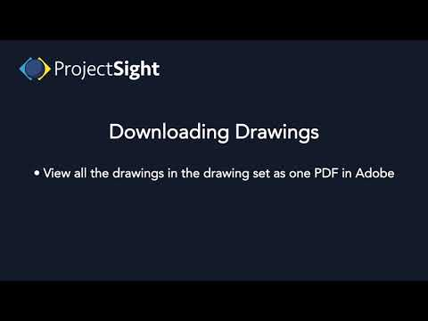 ProjectSight -  Downloading Drawings