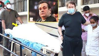 Randhir Kapoor Crying looking At Brother Rajiv Kapoor Dead Body At the hospital