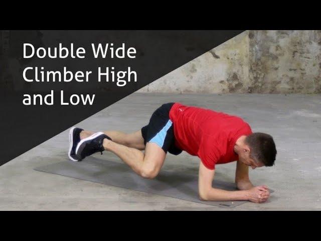 Double Wide Climber High and Low - hoe voer ik deze oefening goed uit?