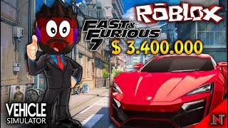 ROBLOX indonesia #82 Vehicle Simulator | Beli Mobil lykan hypersport fast and furious 7