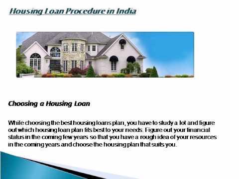 Housing Loan Procedure