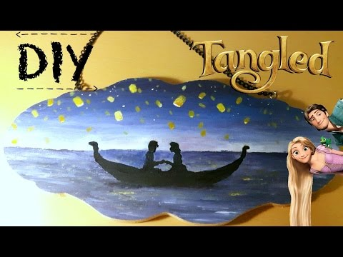 Diy Disney Tangled Boat Silhouette Speed Painting Youtube