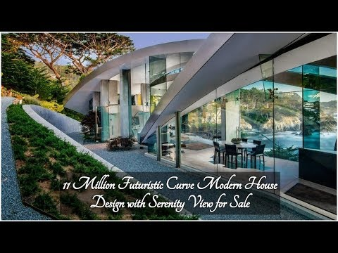 11 Million Futuristic Curve Modern House Design with Serenity View for Sale