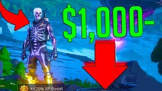 THIS Is How I lost $1,000 Buying The Skull Trooper.. (Fortnite Battle Royale)