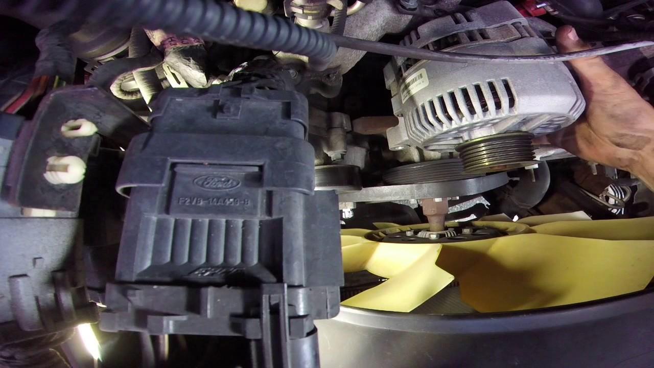 ford econoline 4 6 5 4 alternator replacment e150 e250 e350  [ 1280 x 720 Pixel ]