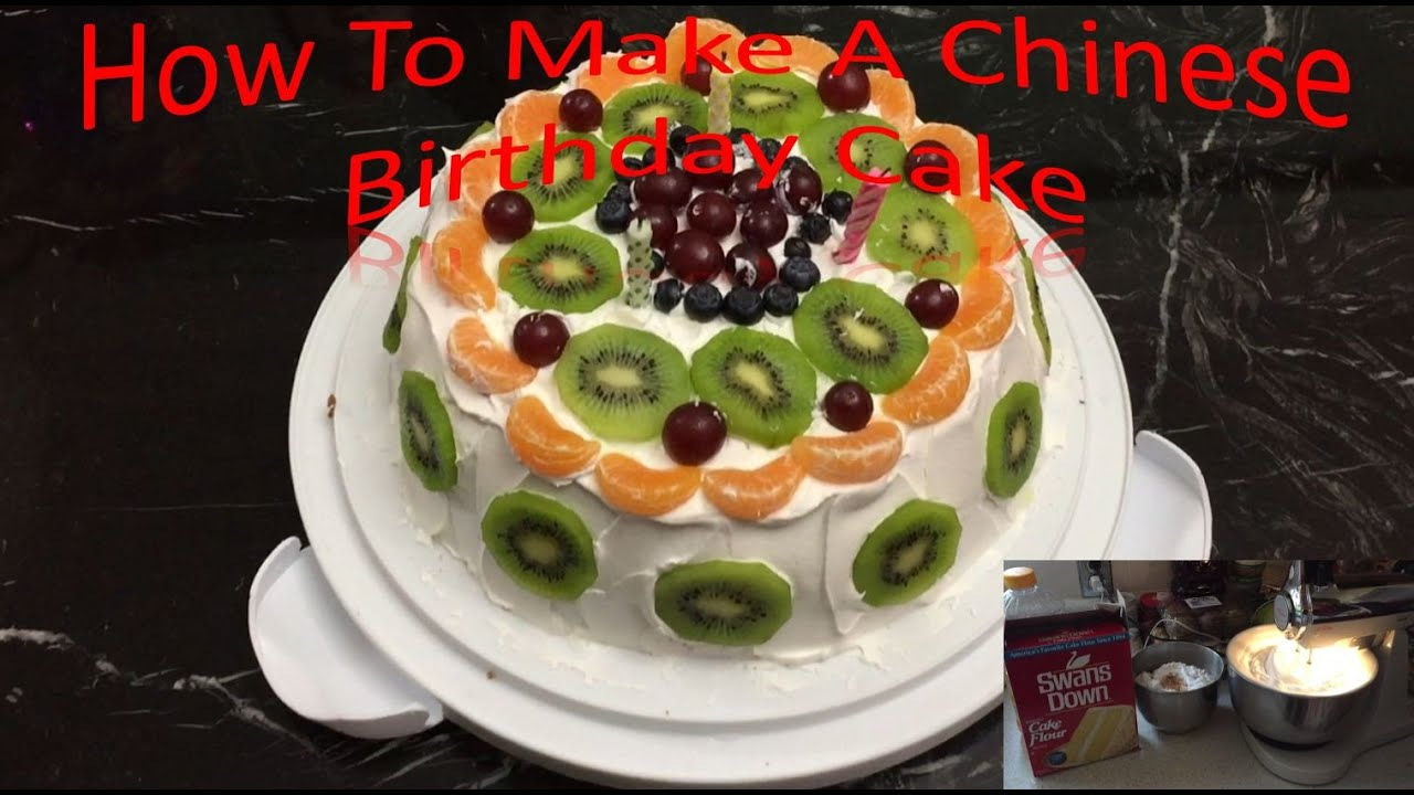 How To Make A Chinese Birthday Cake Youtube