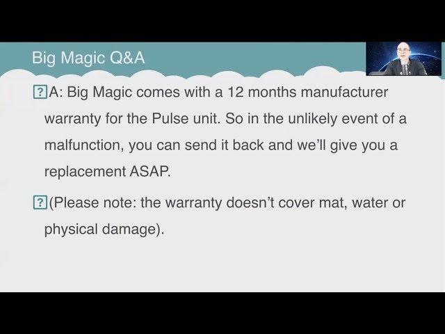 Q&A: Can I program different frequencies with Big Magic?