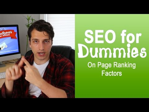 Organic Search Engine Optimization for Dummies(On Page Ranking Factors)