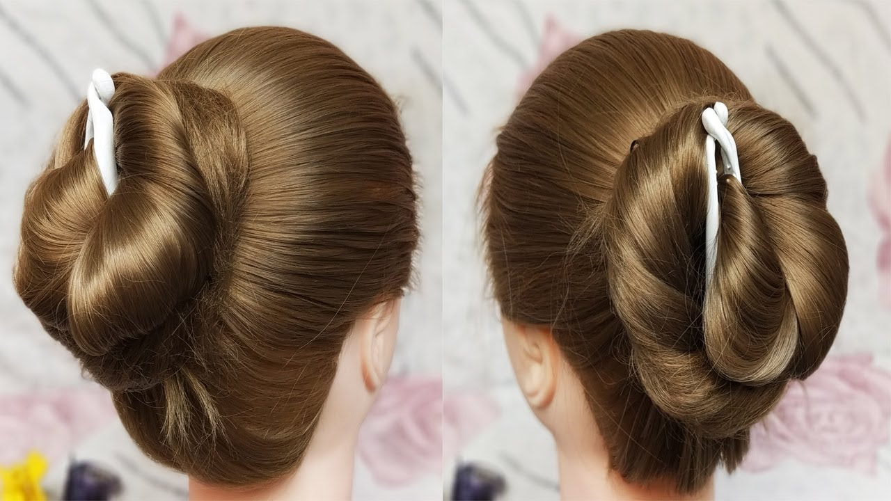 juda hairstyle using banana clip    quick & easy hairstyles    hair style girl    cute hairstyle