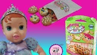 Bebé ARIEL desayuna Galletas de YUMMY NUMMIES Mini Cocina Mágica