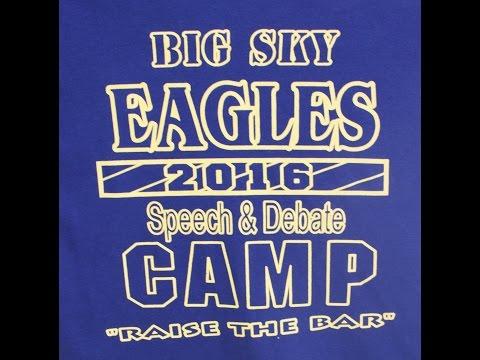 Big Sky High School Speech and Debate Camp