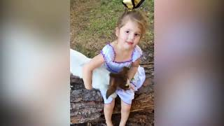 Funny Baby and Goat - Cute Baby and Animals Compilation
