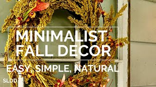 Fall Thanksgiving Decor Minimalist Simple and Easy