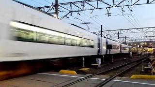 「ノーマルミュースカイ+エヴァンゲリオンミュースカイ」名鉄2006F+2007Fミュースカイ新鵜沼行き、大江駅通過