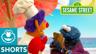 Sesame Street: Cookie Relaxes on Pecan Sandy Beach