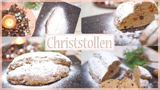 Stollen backen - gesunder Christstollen selber machen - schnelles & einfaches Rezept zu Weihnachten