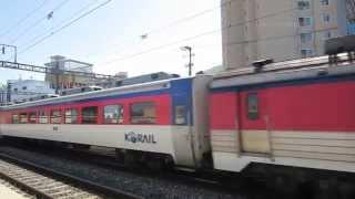 韓国国鉄ムグンファ号 ディーゼル機関車 亀浦駅到着