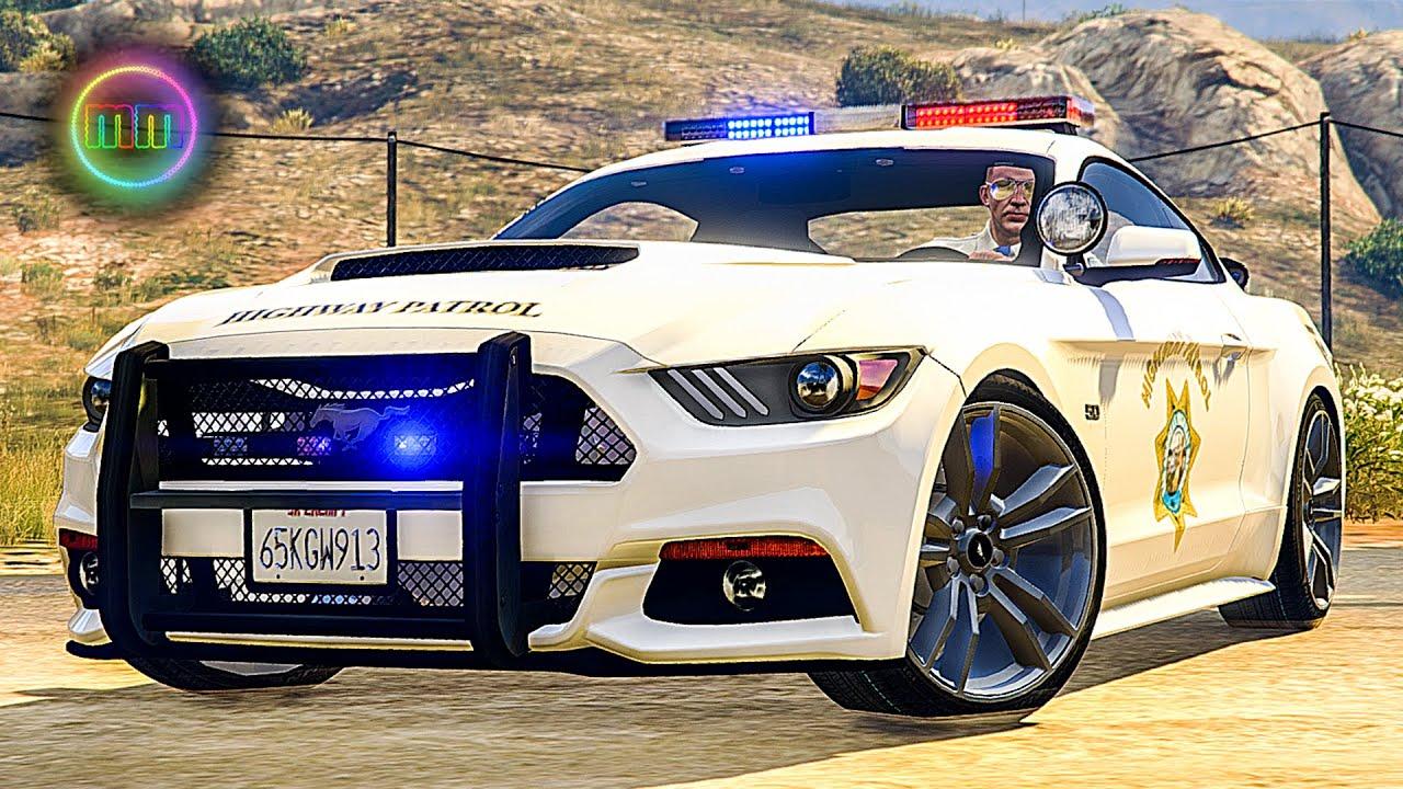 gta 5 lspdfr sports car patrol 2015 mustang youtube - Sports Cars 2015 Mustang