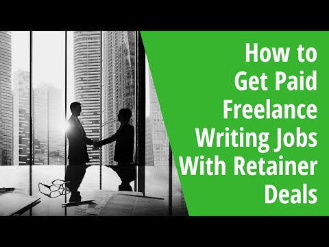 How to Get Paid Freelance Writing Jobs With Retainer Deals: INSIDE AWAI