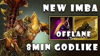 [Sand King] How To Play Monster SK in Offlane with 8Min GODLIKE FullGame Dota 2 7.22b