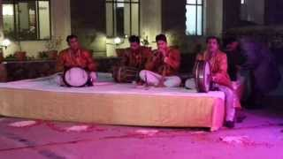 Indian typical music at the entrance of hindu wedding.