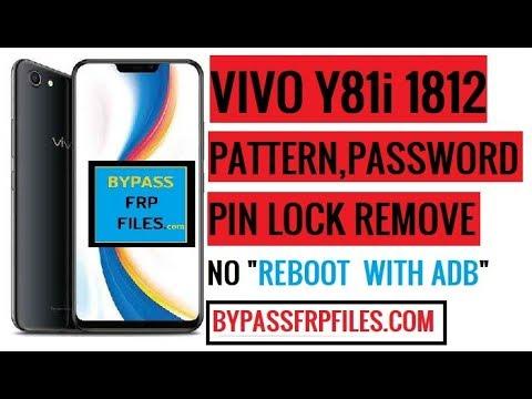 Vivo Y81i Pattern Unlock (Remove Vivo 1812 Screen Lock) - FRP BYPASS