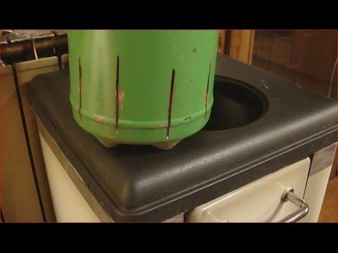 Stufa pirolitica fatta in casa fase caricamento con bi for Costruire stufa pirolisi