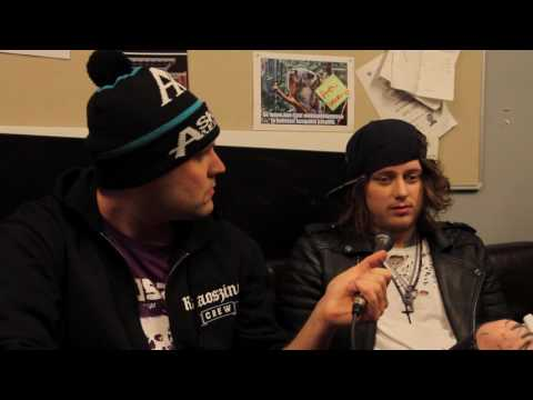 Asking Alexandria Interview With Ben Bruce @ Pakkahuone, Tampere, Finland