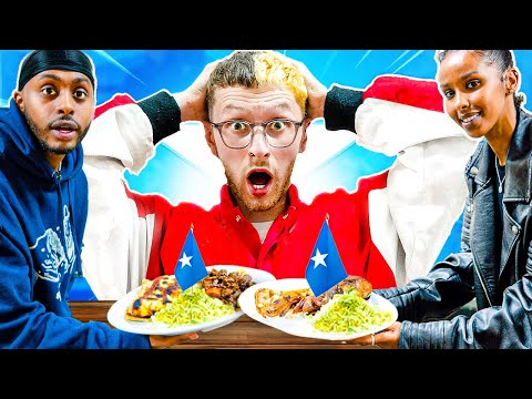 White Man Tries Somali Food For The FIRST Time
