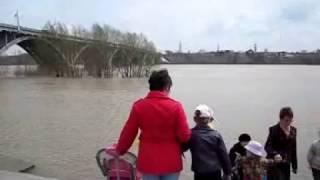 Река Бия город Бийск (наводнение 1 мая 2006г)