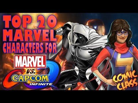 TOP 20 Marvel Characters For Marvel Vs Capcom Infinite - Comic Class
